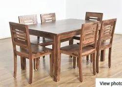 6 Seater Sheesham Wood Dining Table Set