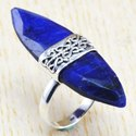 Big Size Emerald Gemstone 925 Sterling Silver Jewelry Fine Ring