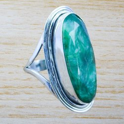 Emerald Gemstone 925 Sterling Silver Ring