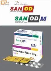 SAN-OD M Tablet Desloratadine 5mg + Montelukast 10mg