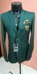 Party Plain Mens Designer Green Blazer, Size: 34-42