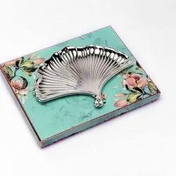 Fan Shaped Silver Platter