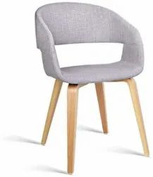 Grey Cushioned Dining Chair