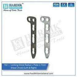 Locking Distal Radius L Plate 2.7mm (Head 2Hole)