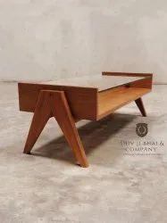 C.p Teak Wood Wooden Center Table