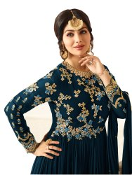 Georgette Semi Stitched Anarkali Suit