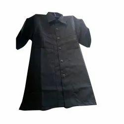 Cotton Black Mens Security Safari Suit