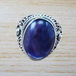 925 Sterling Silver Amethyst Gemstone Ring