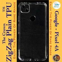 Plastic Google Pixel 4A Transparent Mobile Back Cover