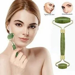Smooth Facial Roller & Massager Natural Massage Jade Stone For Face Eye Neck Foot Massage Tool