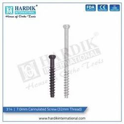 7.0mm Cannulated Screw (32mm Thread)