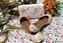 Spring Handcrafted Punjabi Jutti With Matching Clutches