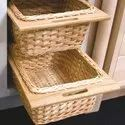Wooden Wicker Basket