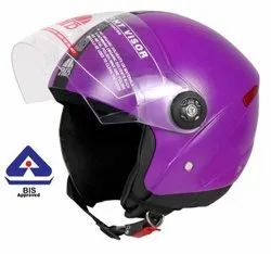 Purple Grand Half Face Helmet