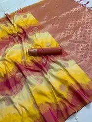 Present New Kasturi Silk Best Designing Saree With Blouse Piece