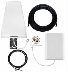 2G 4G LTE Dual Band Silver Antenna Kit Wi-fi Router Range Extending With Cable - 900-1800 MHz