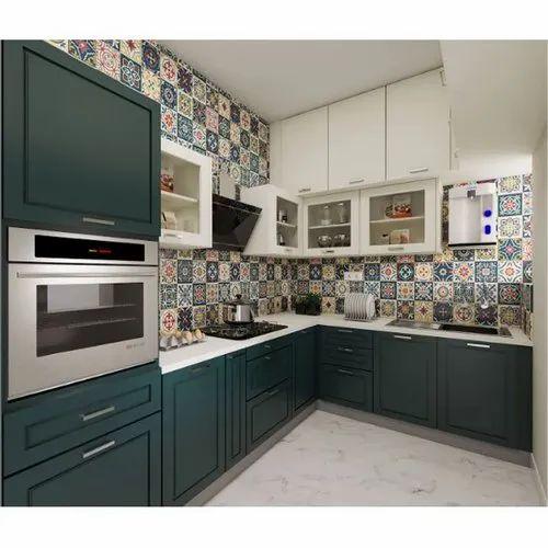 Modern L Shape Aluminium Modular Kitchen