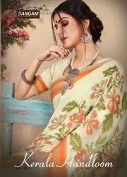 Sangam Prints Kerla Handloom Chanderi Silk Saree Catalog