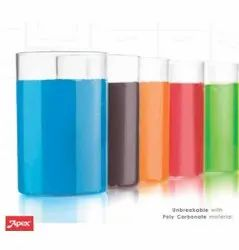 Plastic Everyday Use Glass Set, 6 Pieces, Size: 250ml