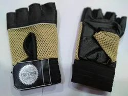 Unisex Half Finger Gloves, Cuff Length: 6-10 Inches