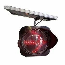 Red LED Traffic Signal Arrow Light With Solar