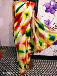 MH HANDLOOM Casual Wear Polyester Cotton Sarees, With Blouse, 6.3 m