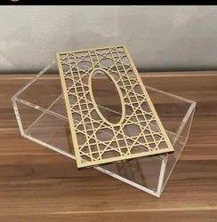 MTCREATION Transparent Acrylic Teasu Box, Size: 8x5x3