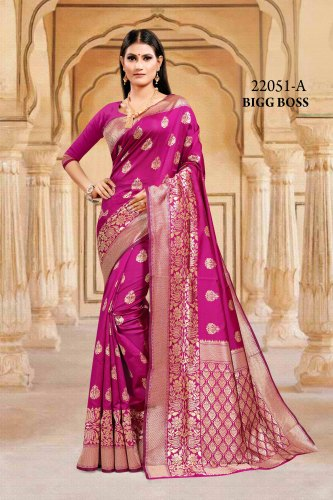 Exclusive Bigg Boss Banarasi Silk Saree 22051