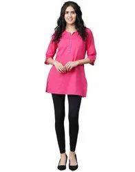 Jaipur Kurti Women Black Solid Cotton Lycra Leggings
