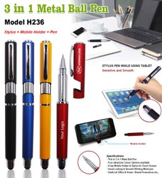 Mobile Holder Metal Pen With Color Option