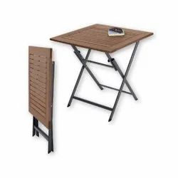 Wooden And MS Flora Outdoor Table, For Office