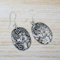 925 Sterling Silver Jewelry Handmade Plain Silver Earring WE-2964