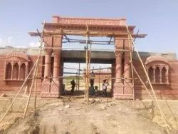 Red Stone Gate Construction