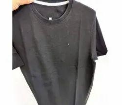 Round Half Sleeve Mens Casual Wear Cotton T Shirt, Size: S-XXL