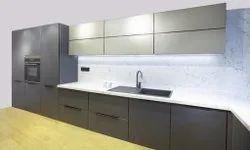 Super Matt Glass Modular Kitchen