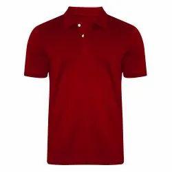 Collar Plain 100 Cotton Mens Polo T Shirts