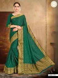 Woman Satin Silk Best Designing Saree