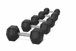 Rubber Hexagonal Dumbbell