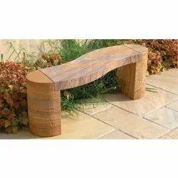 Curved Granite Stone Bench