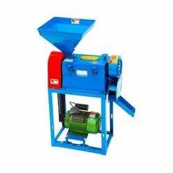 Semi-Automatic Painted Paddy Rice Hulling Machine, 5 HP, Single Phase