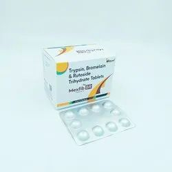 Trypsin 48 mg, Bromelain  90 mg and Rutoside trihydrate 100 mg Tablets