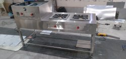 Stainless Steel Gas Bhatti, Number Of Burners: 3