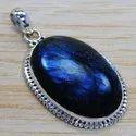 925 Sterling Silver Jewelry Labradorite Gemstone Pendant SJWP-193