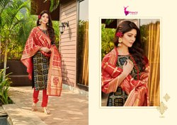 Banarasi Silk Bandhani Dress Material