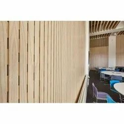 Acoustic Slated Wooden Panels