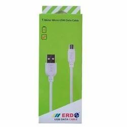 White 1 Meter USB Data Cable