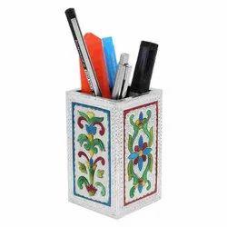 Multicolor KBI Handicraft Series HD-04 Square Handmade Pen Stand