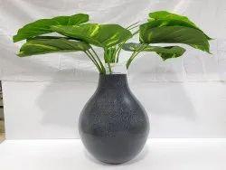 Black Modern Flower Vases, Size: Large, Shape: Round Shaped