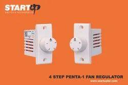 Start Up White 4 Step Non-Modular Fan Regulator, For Home, Size: Standard