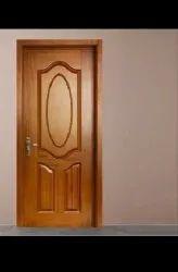 Idecore Idecor Brown Termite Proof Wood Membrane Door, For Home